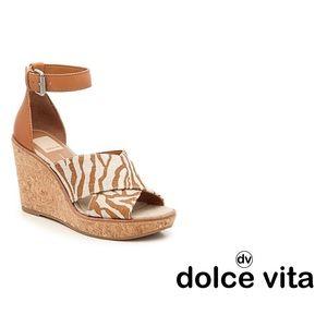 NWOB Dolce Vita Urbane Zebra  Wedge Sandals